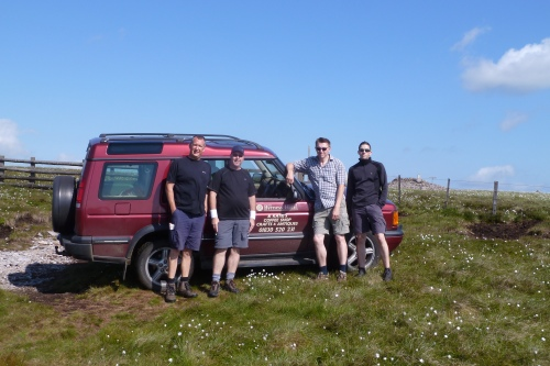 Final Day - we arrived in style on the top of The Cheviots!