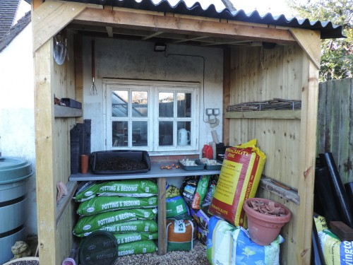Getting organised - potting shed